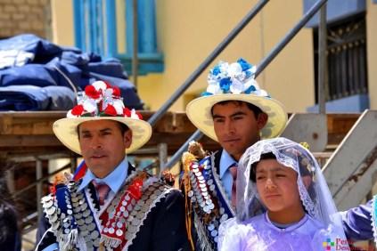 Fotografía de los Negritos y su damita.