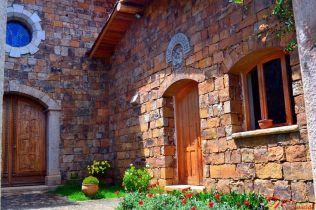 Vista de la parte interior de la Casa Nazareth en Illauro San Luis Ancash