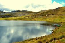 Vista de montañas de Huachucocha en Ancash