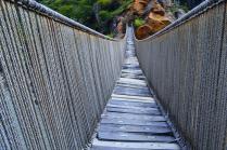 Puente de Pucayacu restaurado como en la época incaica.