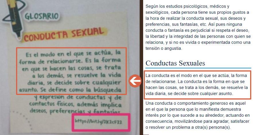 Texto sobre conducta sexual incluido en el libro del Minedu.