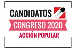 Candidatos al Congreso Acción Popular 2020