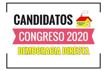 Candidatos al Congreso Democracia Directa 2020