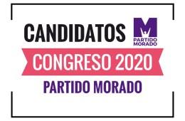Candidatos al Congreso Partido Morado 2020