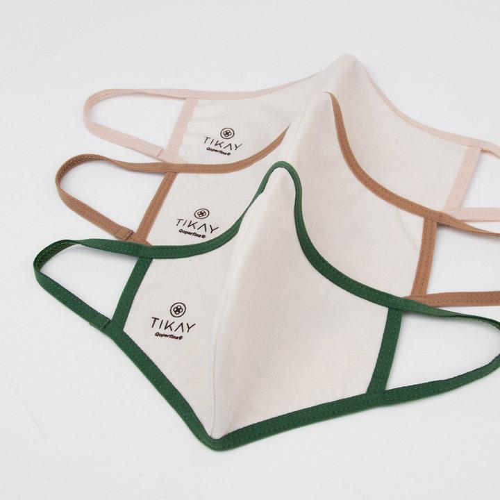 cubrebocas de tela con cobre