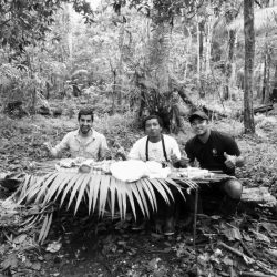 Guests and Guides eating in the rainforest