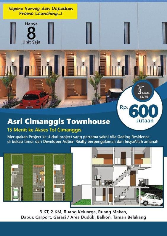 asri cimanggis townhouse