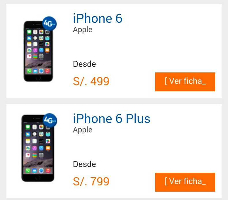 deb7cf2d5bb Precios de iPhone 6 y iPhone 6 Plus con Entel - Perusmart