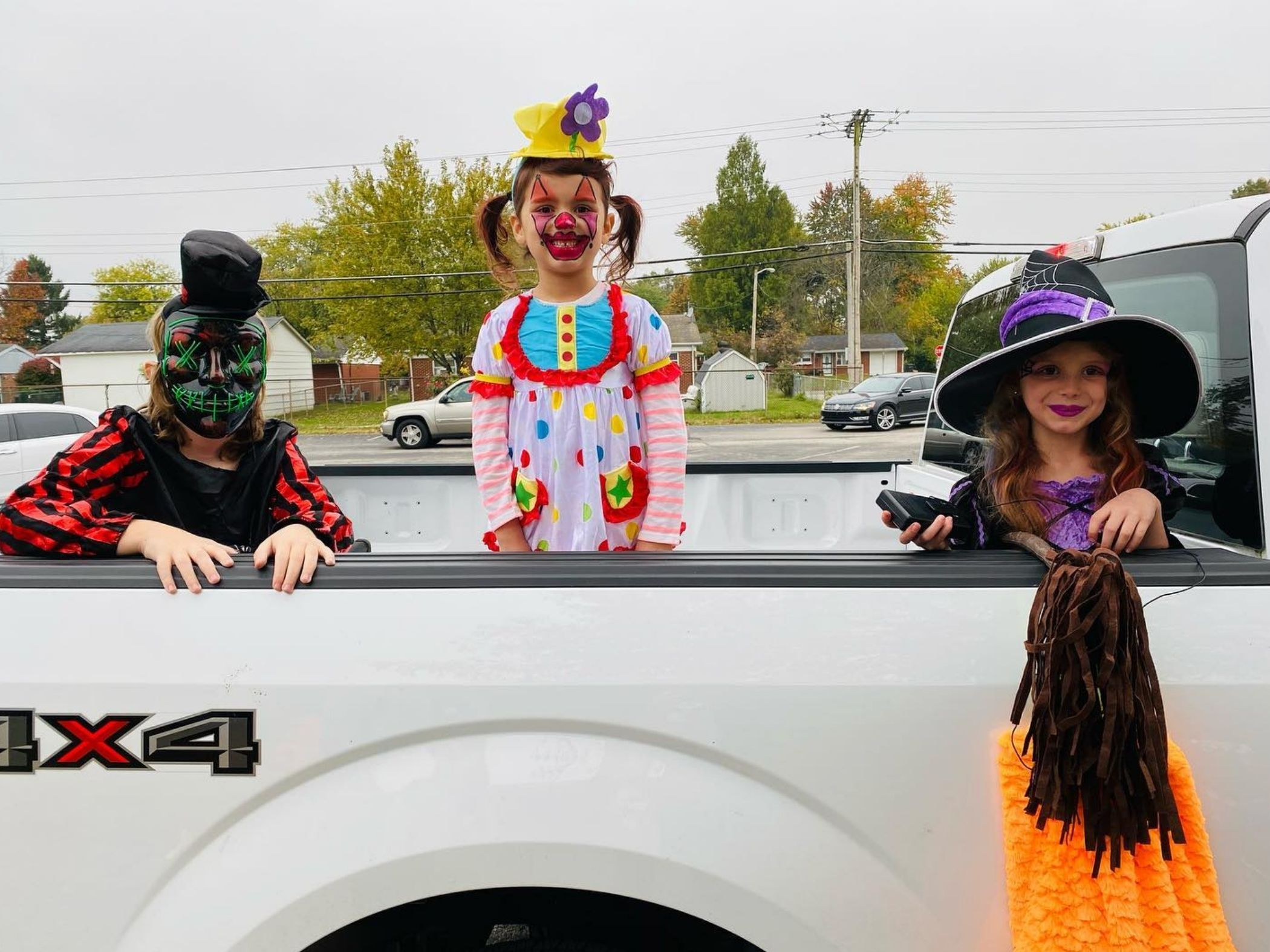 Students dressed for Halloween