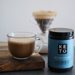 Keto coffee with Perfect Keto MCT Oil Powder