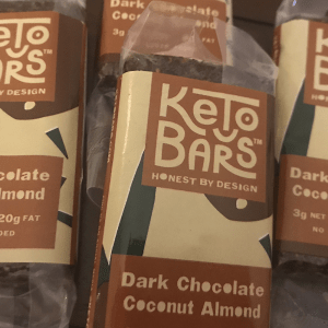Low Carb Dark Chocolate Coconut Almond Keto Bars