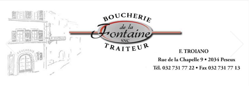 M. Troiano de la boucherie de la Fontaine à Peseux a offert les plats de viandes froides à l'occasion de la distribution de compost par Peseux en mieux le 16 sept. 2017. Merci à lui!