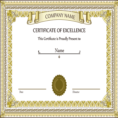 excellency certificate