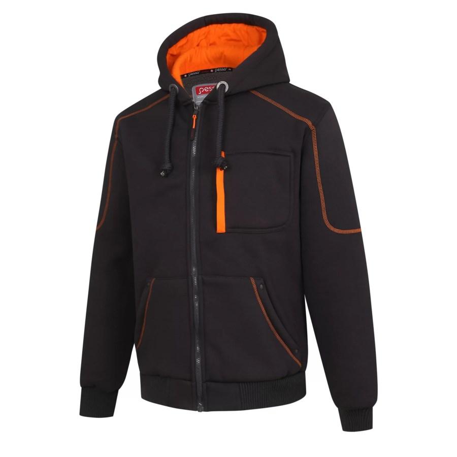 Warm Fleece hoodie Pesso Portlad, grey pessosafety.eu