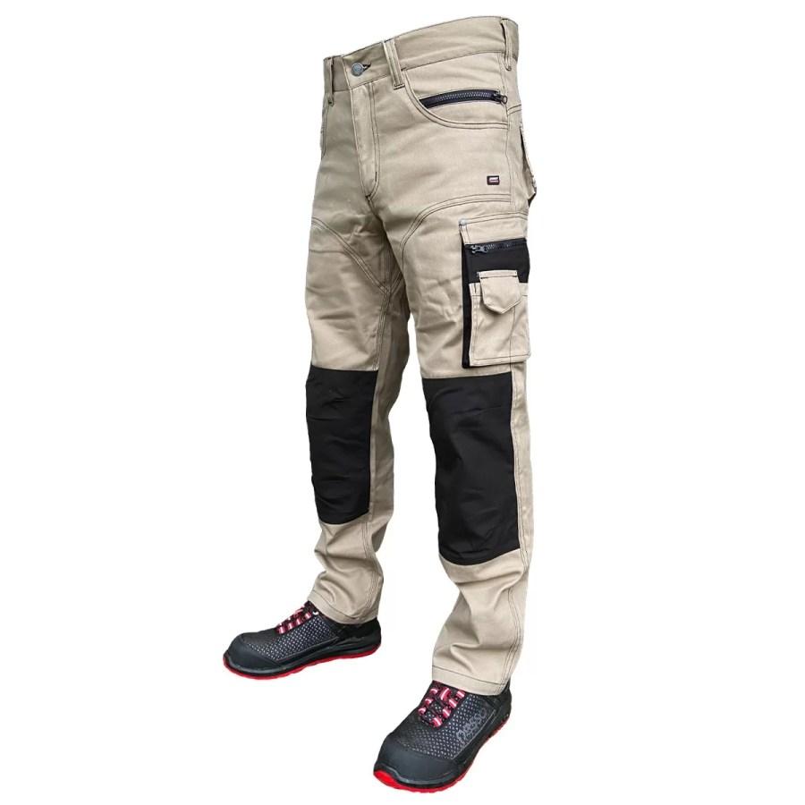 Workwear trousers Pesso KDBZ, CVC Twill, beige pessosafety.eu