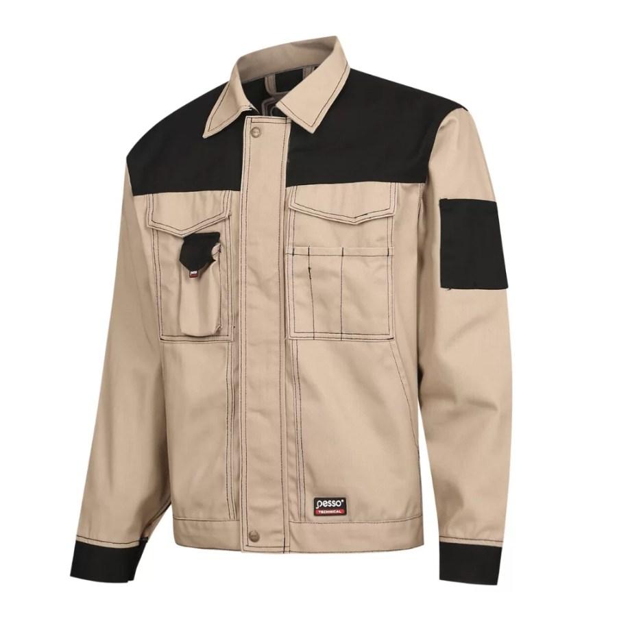 Workwear jackets Pesso DSBZ, CVC Twill, beige pessosafety.eu