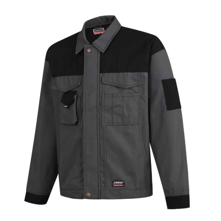 Workwear jacket Pesso Canvas, grey pessosafety.eu