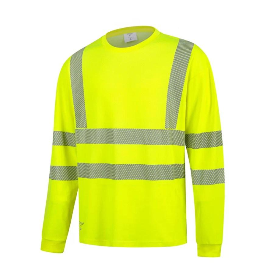 High visibility long sleeve T-Shirt Pesso HVMIL EN20471 Class 2 pessosafety.eu
