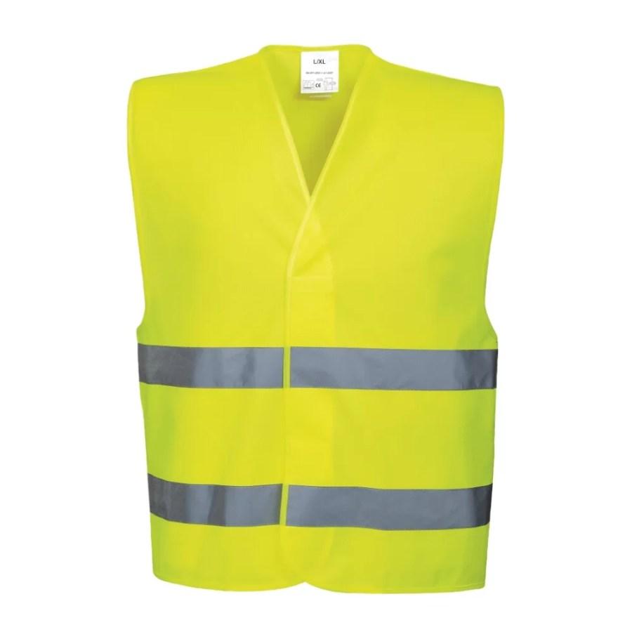 High visibility two band & brace vest Pesso LS-RSV001_G, yellow EN20471 Class 2 pessosafety.eu