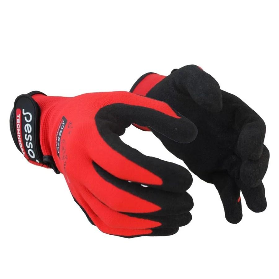 Working gloves semi-dipped in Sandy nitrile Pesso PNBRR pessosafety.eu