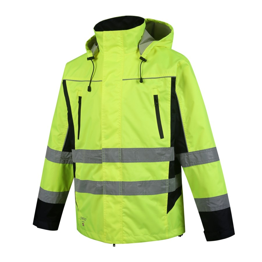 Winter Jacket Pesso Denver, High visibility yellow Oxford 300D pessosafety.eu
