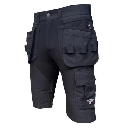 Workwear shorts Pesso Nordic Titan Flexpro 125, black | pessosafety.eu