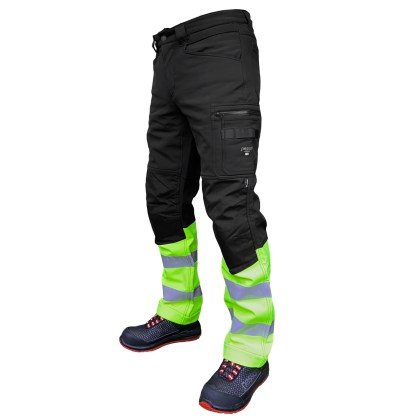 Softshell Pants Pesso Mercury black/yellow | pessosafety.eu