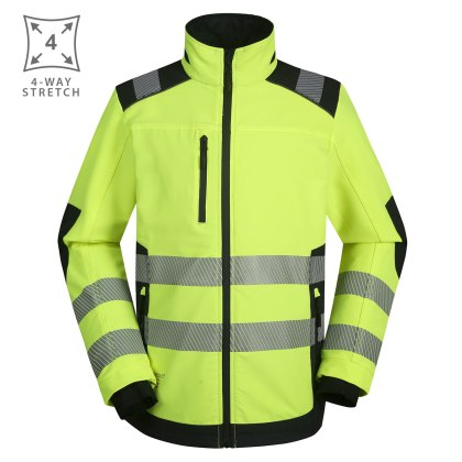 Workwear jacket Pesso Titan 125 4-way Stretched, yellow | Pesso workwear pessosafety.eu