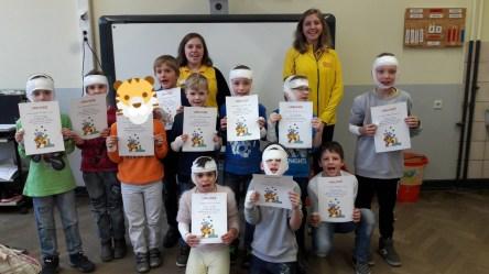 die Tiger (Klasse 2a) mit ihren Urkunden