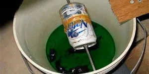 Bucket mouse trap with antifreeze