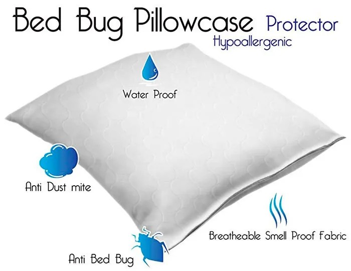 Bed Bug Pillowcase Hypoallergenic Protector