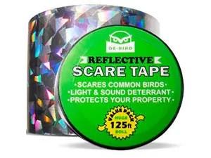 Bird repellent scare tape