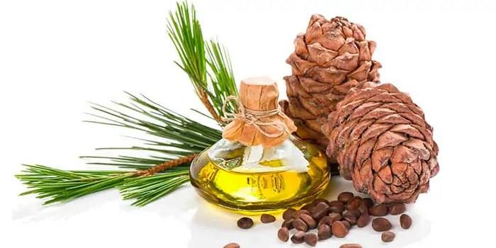 Cedar oil in bottle