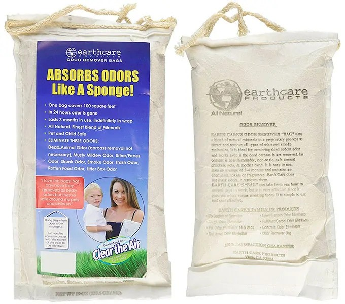 Odor remover bags by Earthcare Products