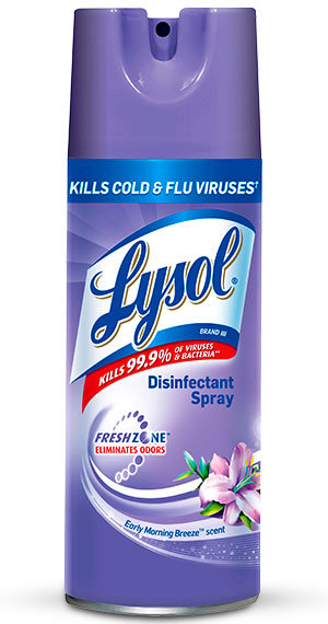 Does lysol disinfectant spray work