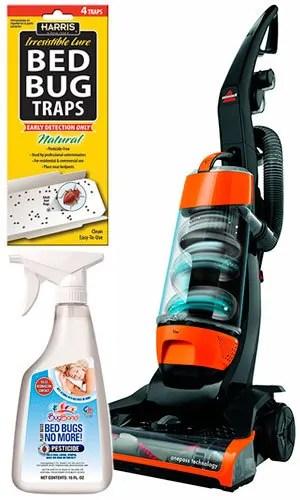 Spray, traps and vacuum