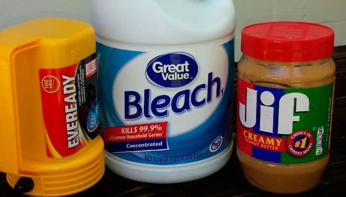 Bleach and peanut butter
