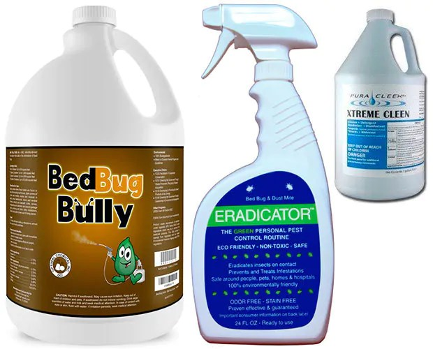 BedBug Bully, Eradicator and Xtreme Cleen