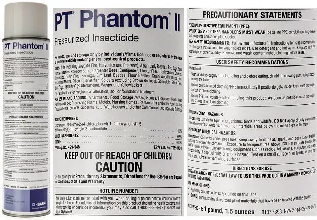 PT Phantom II Pressurized Insecticide with instructions