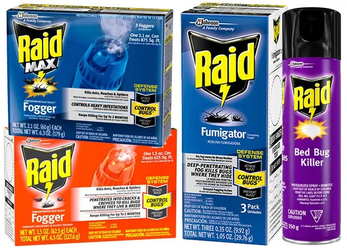 Raid bed bugs products