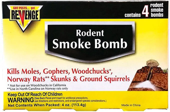 4 rodent smoke bombs