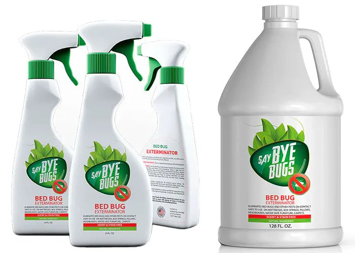 Say BYE BUGS Exterminator Spray