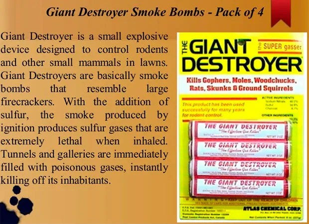 Giant destroyer smoke bomb