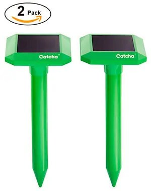 2 Pack Catcha Solar Powered Sonic Repeller