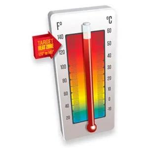 Temperature 120ºF-140ºF
