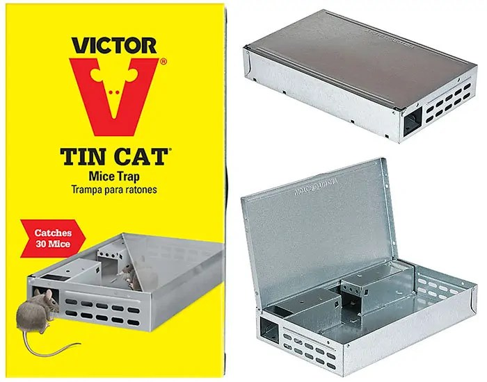 Tin Cat Mice Trap by Victor