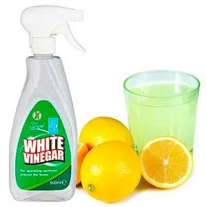 White vinegar and lemon juice