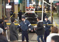 心斎橋筋商店街 パトカーに衝突