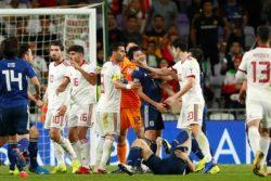 サッカーアジア杯 日本対イラン