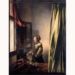 ヨハネス・フェルメール「窓辺で手紙を読む女」